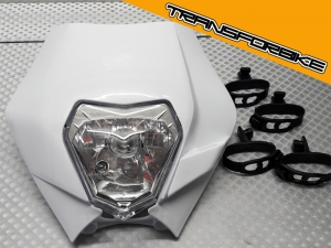 KTM DUKE 125 250 390 2017-2019 Plaque Phare  PLAQUE PHARE BLANCHE