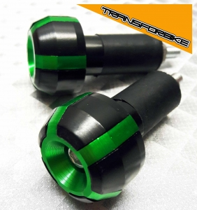KAWASAKI ZX6R 2009-2012 EMBOUTS GUIDON EMBOUT FB VERT