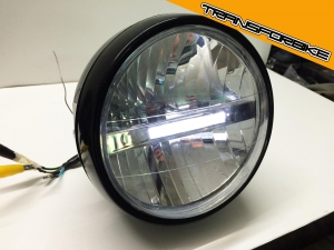 KAWASAKI ZX6R 2007-2008 OPTIQUE LEDS PHARE 2 LEDS PAM