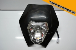 TRIUMPH Thruxton /R 2016- --- Plaque Phare BLaCK PLAQUE PHARE NOIR